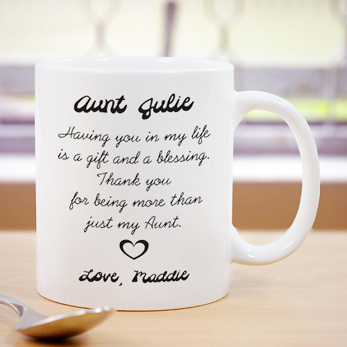 Aunt Ceramic Mug | Customizable Coffee Mugs