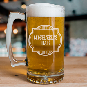 Personalized Bar Glass Mug