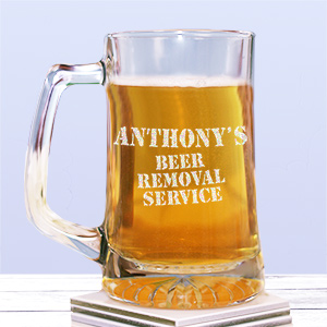 Engraved Beer Removal Service Glass Mug 231331