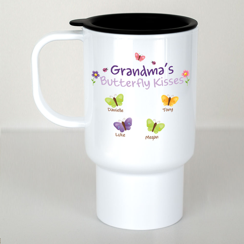 Personalized Butterflies Travel Mug | Personalized Travel Mugs
