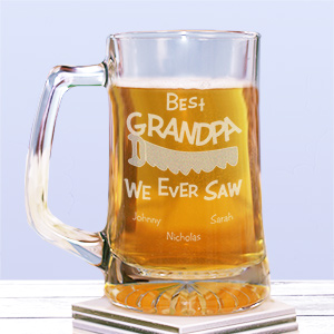 Engraved Fathers Day Beer Mug