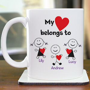 Personalized Belongs To Heart Coffee Mug 238370