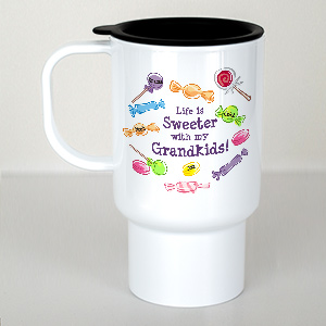 Personalized Life Is Sweeter Travel Mug T238950
