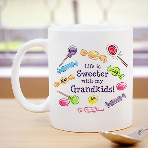 Life Is Sweeter Personalized Coffee Mug 238950