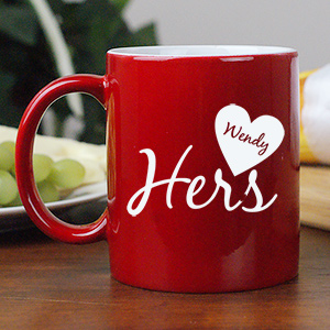 Personalized His and Hers Coffee Mug  | Valentine's Day Gifts Under 25