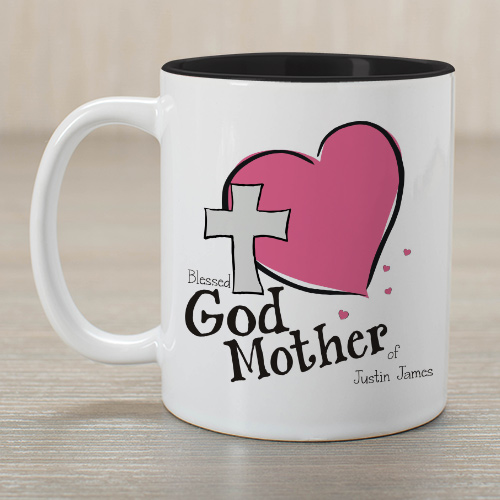 Personalized Godmother Of Two-Tone Mug | Personalized Mugs