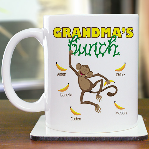 Personalized Monkey Bunch Mug | Personalized Grandma Gifts
