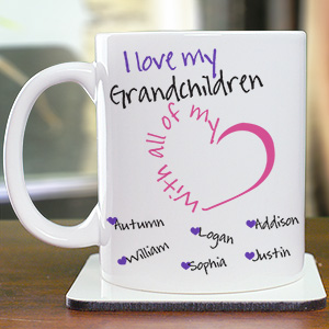 Personalized With All My Heart Mug | Personalized Grandma Gifts