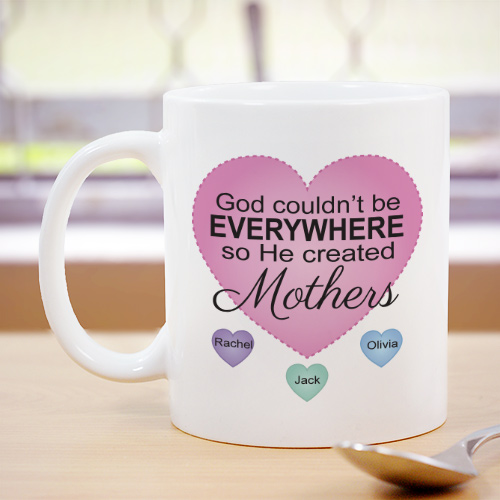 Personalized God Couldn't Be Everywhere Mug | Personalized Mugs