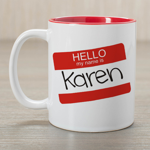 Personalized Hello My Name Is Mug 262270x