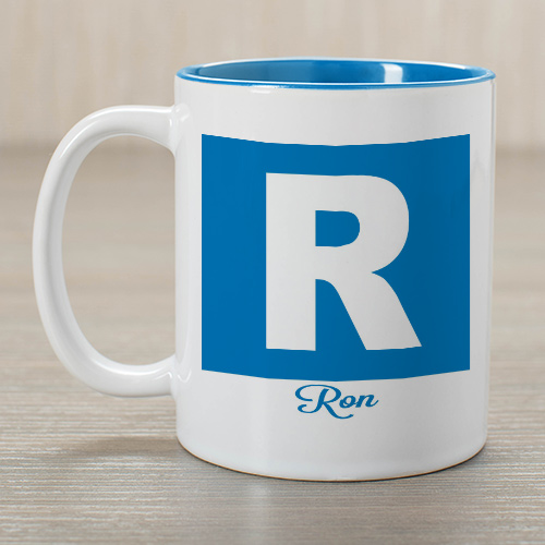 Personalized Initial and Name Mug | Customizable Coffee Mugs