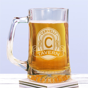 Engraved Tavern Glass Mug 262681