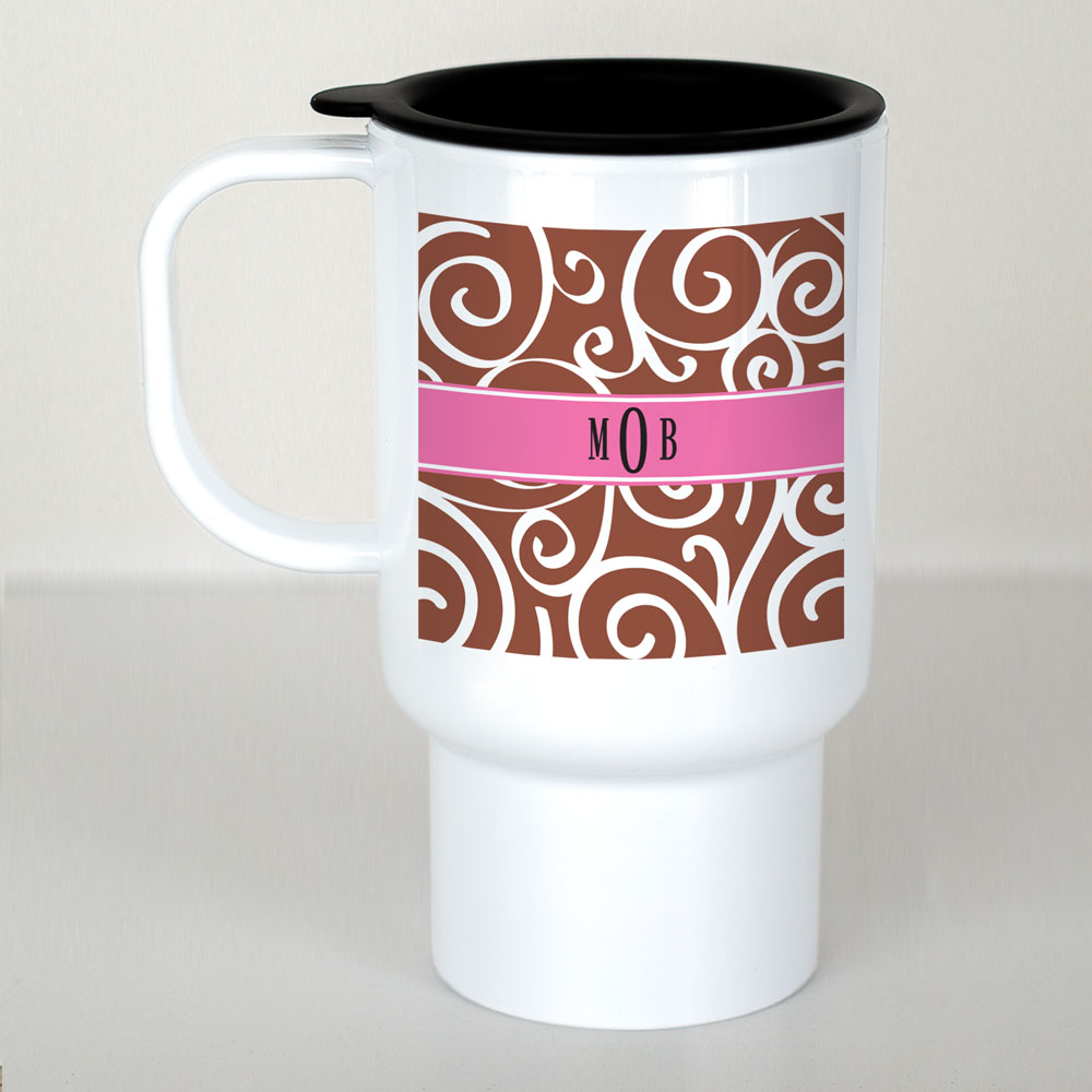 Monogram Madness Mug | Personalized Travel Mug
