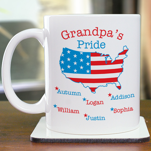 Personalized American Pride Mug | Customizable Coffee Mugs