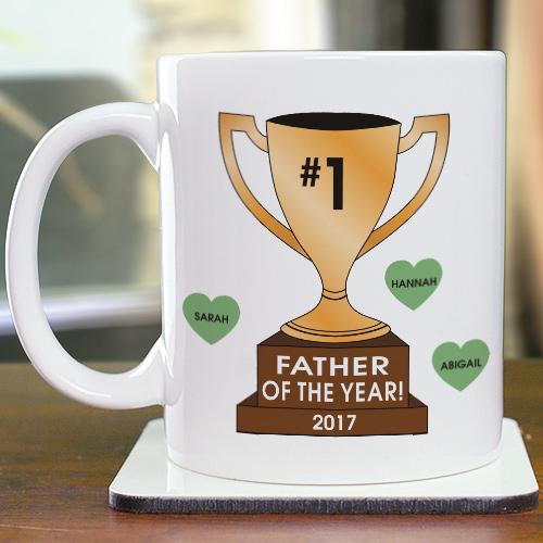 Personalized Number One Trophy Mug | Custom Coffee Mug