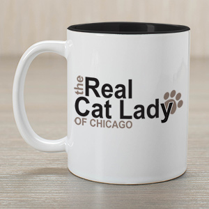 Personalized Real Cat Lady Mug | Customizable Coffee Mugs