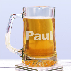 Personalized Name Glass Mug