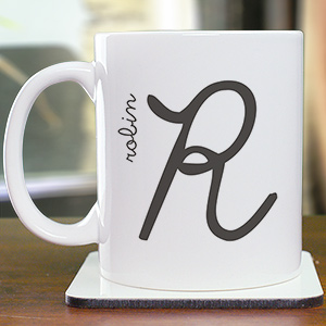 Any Initial Mug | Customizable Coffee Mugs