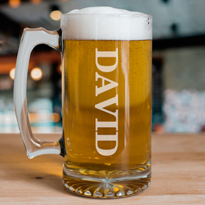 Engraved Glass Beer Mug | Personalized Father's Day Gifts