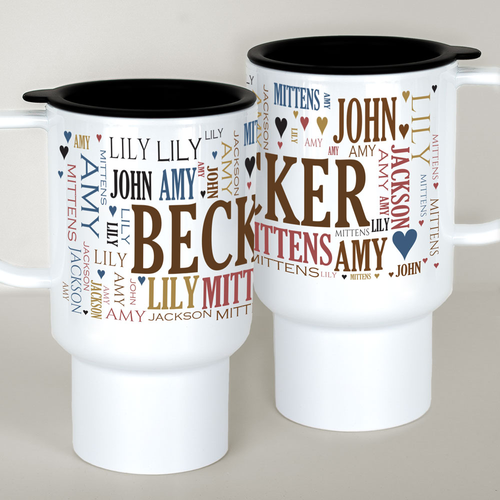 Personalized Helpers Travel Mug | Personalized Word Art