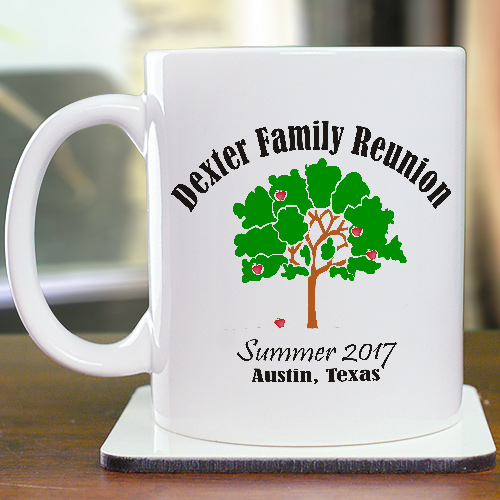 Apple Tree Family Reunion Coffee Mug | Customizable Coffee Mugs