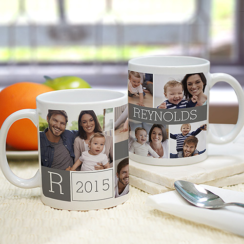 Family Photo Collage Personalized Mug