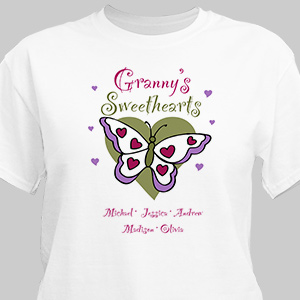 Butterfly Sweethearts Valentine T-shirt | Personalized T-Shirts