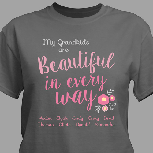 Personalized Beautiful In Every Way T-Shirt | Personalized Gifts for Grandma