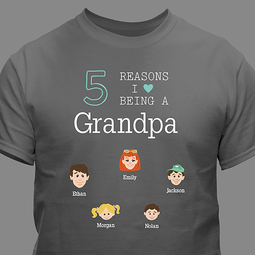 Personalized Reasons Why T-Shirt | Personalized Grandparents Gifts