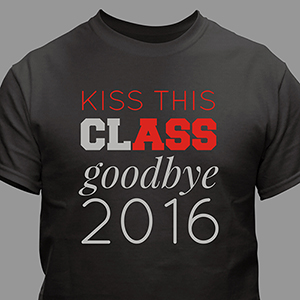 Personalized Kiss This Class Goodbye T-Shirt