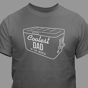 Personalized Coolest Dad T-Shirt