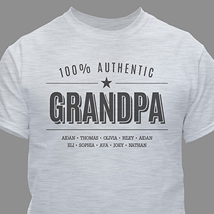 Personalized 100% Authentic T-Shirt for Him