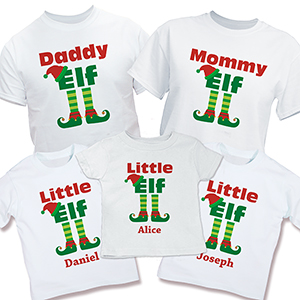 Personalized Elf Family T-Shirt | Matching Family Christmas Shirts