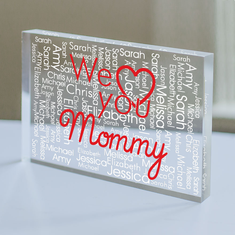 Personalized We Love You Keepsake Block | Personalized Keepsake for Valentine's Day