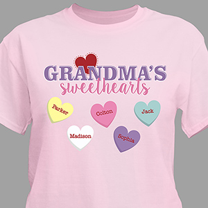Personalized Grandma's Sweethearts T-shirt | Personalized Grandma Shirts