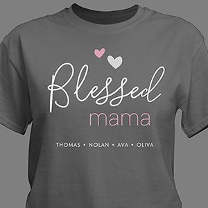 Personalized Blessed T-Shirt for Her | Personalized Gifts | Mommy T Shirts