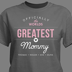 Personalized World's Greatest T-Shirt for Her