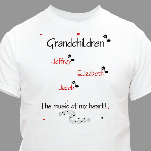 Music of My Heart T-shirt | Personalized Grandma Shirts