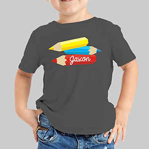 Personalized Pencils Youth T-Shirt | Personalized Kids T Shirt
