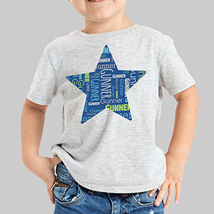Personalized Star Word-Art Youth T-Shirt | Personalized Kids T Shirt