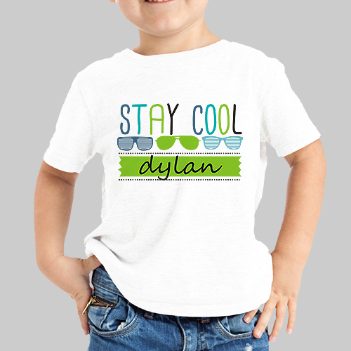 Personalized Stay Cool Youth T-Shirt | Personalized Kids Shirts