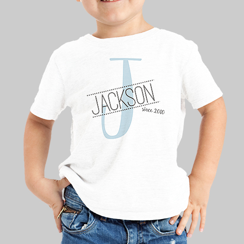 Personalized Initial Youth T-Shirt | Personalized Kids Shirts