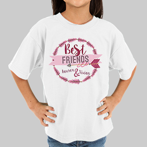 Personalized Best Friends Youth T-Shirt | Personalized Kids Shirts