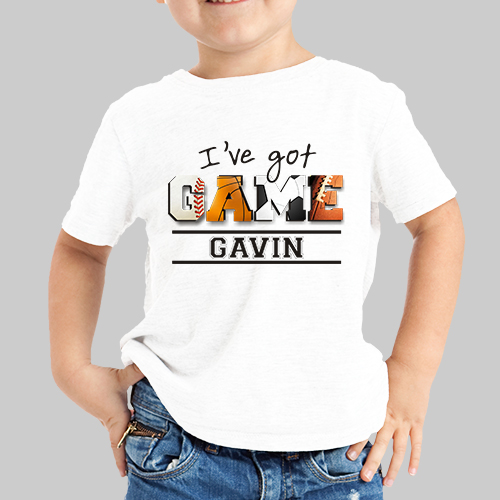 Personalized I've Got Game Boys Youth T-Shirt | Personalized Kids Shirts