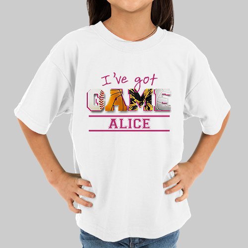 Personalized I've Got Game Girls Youth T-Shirt | Personalized Kids Shirts