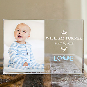 Personalized Baby Love Acrylic Block | Personalized Baby Photo Gifts
