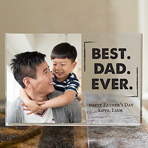 Personalized Best. Dad. Ever. Acrylic Block | Personalized Gifts For Dad