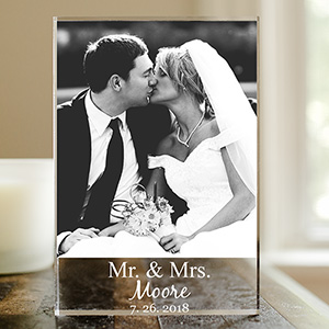 Personalized Mr and Mrs Photo Keepsake | Personalized Couple Gifts