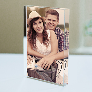 Personalized Couples Photo Acrylic Keepsake | Cool Wedding Gifts