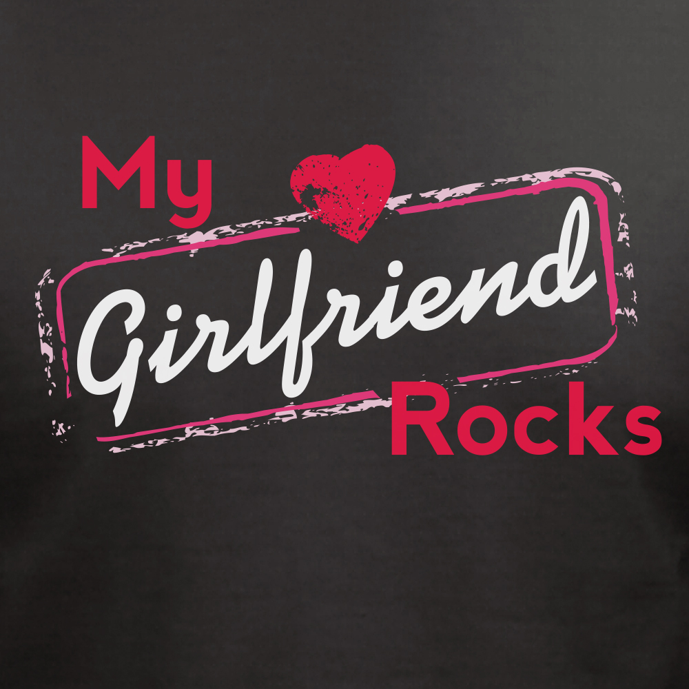 Personalized My Girlfriend Rocks T-Shirt | Personalized Valentines Shirt